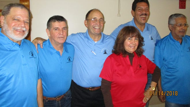 The Spanish American Club's 2018 Board of Directors are, from left, Charles Quiles, Carlos Mejía, Rubén Alemán, Nancy Rozon, Ray Guadalupe and Luis Carrillo.