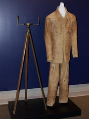 Alden Partridge's walking suit is on display at Norwich