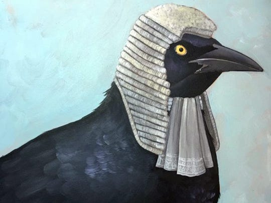 Artist Christy Stallop has been working on a series of whimsical grackles. The works will be featured in the mother-daughter art show Sunday at Loa Vina Winery.