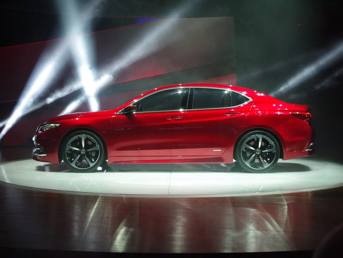 The Acura TLX prototype unveiled at the North American International Auto Show in Detroit.