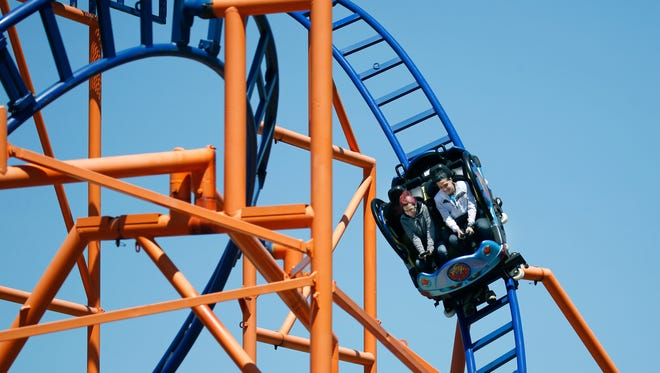 Whirl Wind ride during opening day at Seabreeze Amusement Park.