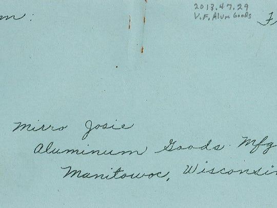 'Mirro Josie' envelope.