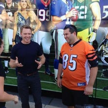 'The Blacklist' star Diego Klattenhoff joined the NBC Charlotte crew for the first over #SNF tweetup at the Sunday Night Football bus Sunday night at Romare Bearden Park.