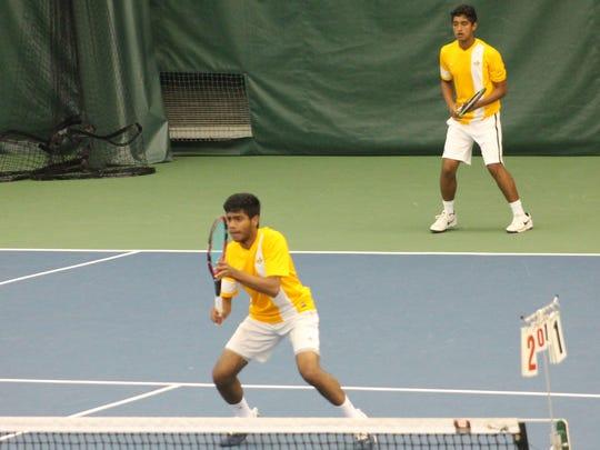 Sycamore doubles team of Nikhil Senkar and Varun Kalaiarasan won at Flight A of the Coaches Classic at Camargo April 29.