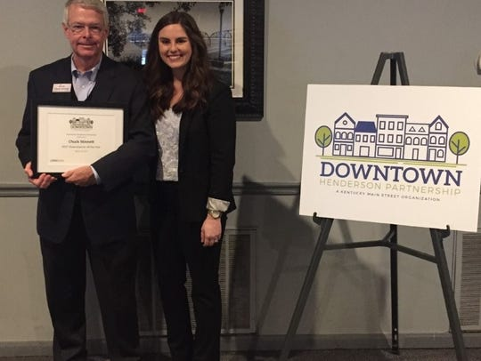 Chuck Stinnett was named Downtowner of the Year and