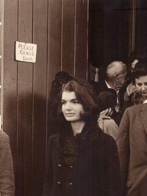 Jackie Kennedy leaving St. Augustine Church in Thomasville, Georgia.