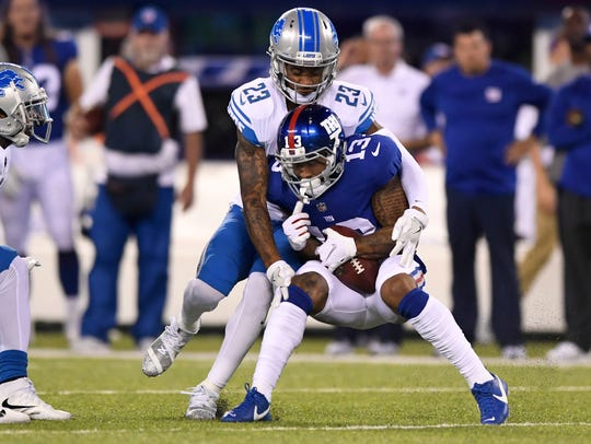 New York Giants wide receiver Odell Beckham (13) is