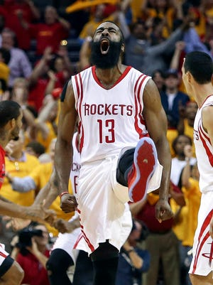 James Harden led the Rockets to their first playoff series victory in six years.