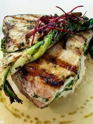 Local swordfish with grilled ramps over was a past spring dish at  Blend on Main in Manasquan