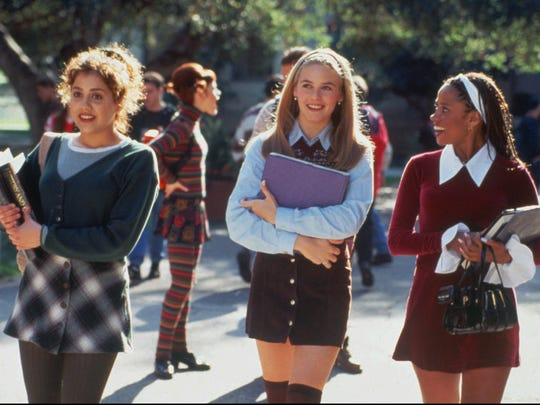 "Tai (Brittany Murphy, from left), Cher (Alicia Silverstone and Dionne (Stacey Dash) are friends in ""Clueless."""