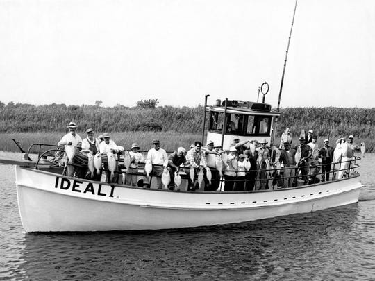 """Captain Doug Macintosh's Ideal I from Point Pleasant Beachcirca 1954. Her specialty was fishing for """"Big Jersey Fluke"""", and plenty of them were boated aboard her throughout the 1950s and 1960s."""