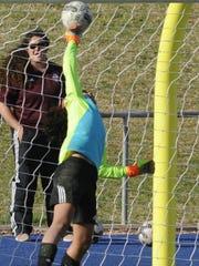 Wylie goalie Taylor makes a save to preserve a 0-0