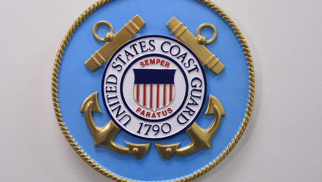 This photo reviewed by the US military shows the United States Coast Guard emblem.