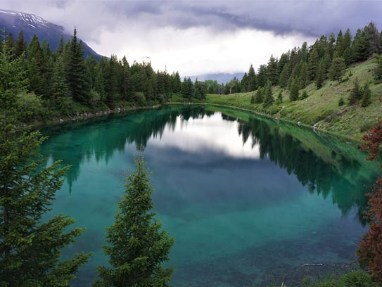 Valley of Five Lakes in Jasper National Park, Alberta,