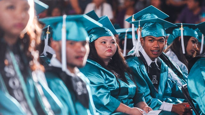 A pod of 327 Dolphins were celebrated during their commencement exercise at the Southern High School gym in Santa Rita on Wednesday, May 25.