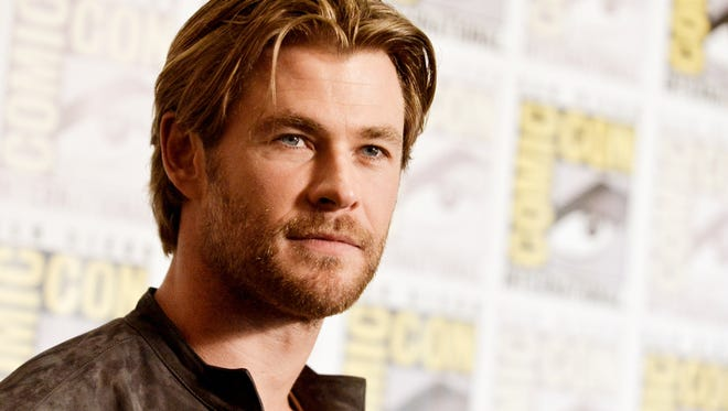 Chris Hemsworth attends the Marvel press line at Comic-Con International in San Diego.