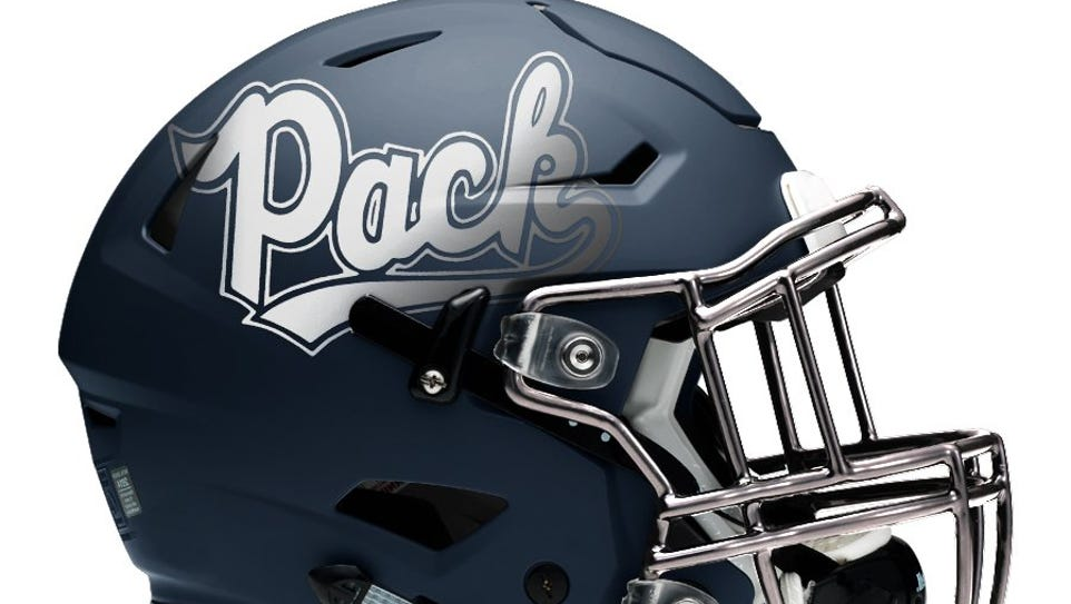 The Nevada football team will have a new helmet in