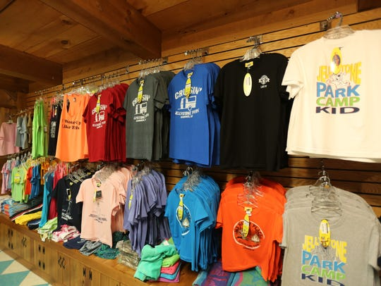 Clothing is pictured in the shop at Yogi Bear's Jellystone