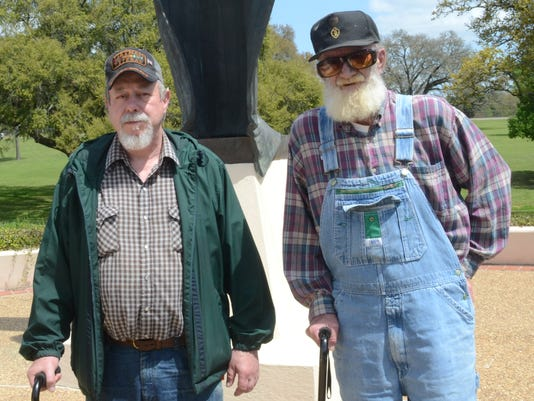 ANI Veterans Vietnam veterans Donald Ray (left) and Offie Bridges have filed claims for benefits from the VA. Tuesday, March 31, 2015.-Melinda Martinez/mmartinez@thetowntalk.com