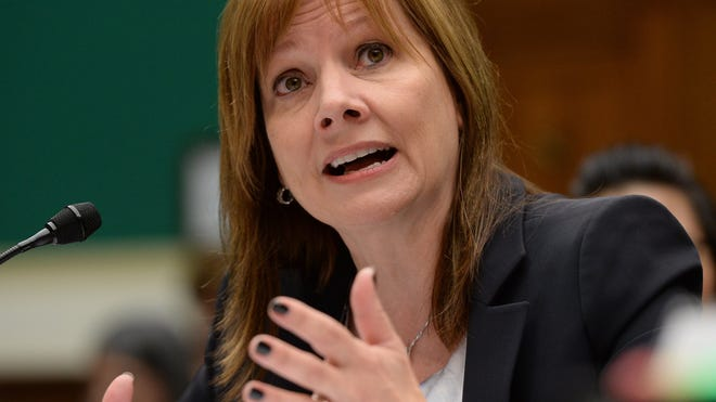 GM CEO Mary Barra testifies in front on the House  Subcommittee on Oversight and Investigations.