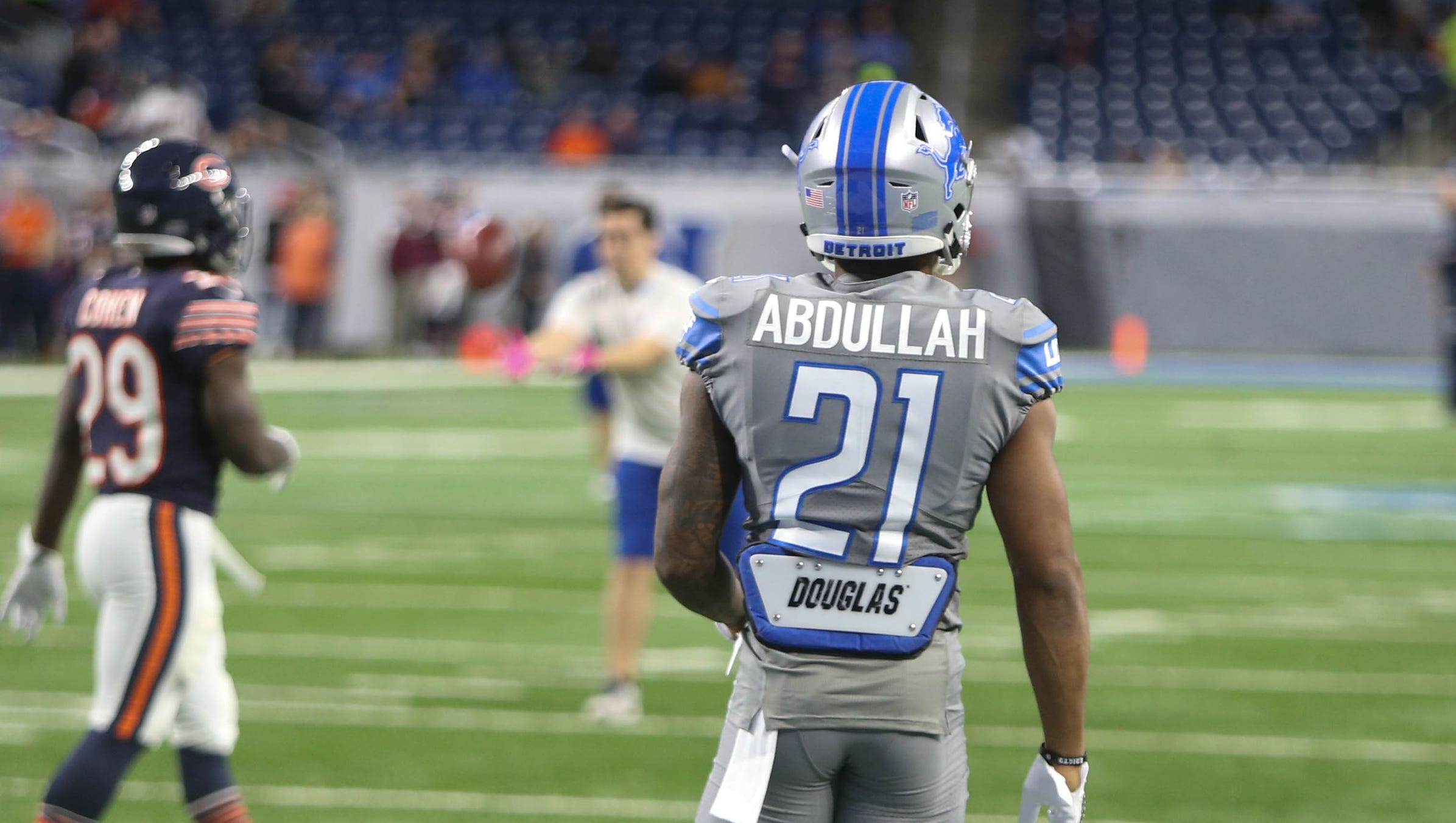 Detroit Lions debuting gray Color Rush zuniform vs. Chicago Bears