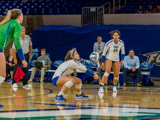 FGCU junior Maggie Rick, the ASUN Setter of the Year, is 18th nationally with 11.37 assists per set.