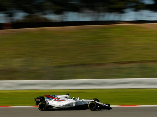 Williams driver Felipe Massa of Brazil steers his car during a Formula One pre-season testing session at the Catalunya racetrack in Montmelo, outside Barcelona, Spain, Tuesday, March 7, 2017. (AP Photo/Francisco Seco)
