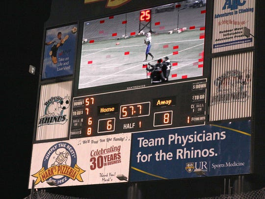The original scoreboard at soccer stadium lasted 10