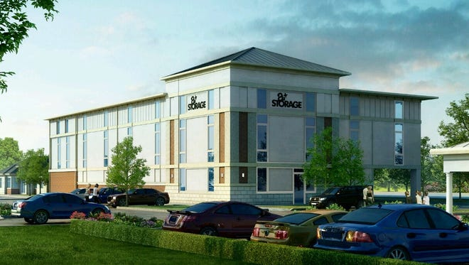 The new building in Bellevue will be similar to this one, which architect Jim Lowen designed for A+ Storage on Fortress Boulevard in Murfreesboro. That multi-story, 30,000 square foot project is the final phase of the company's  Murfreesboro complex.