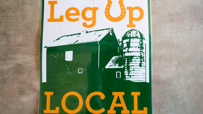 A logo created by students of the York Art Institute will be used to tell customers that items have been sourced from 100 miles from the store. Leg Up Farmers Market in Emigsville.