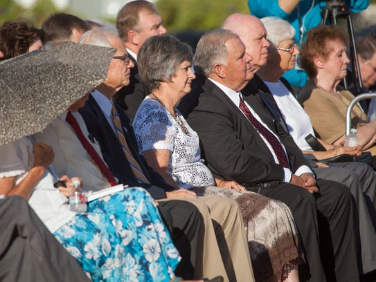 Local and regional leadership from the LDS church gather