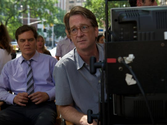 Actor Michael Shannon sits behind David Koepp during