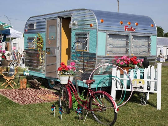 This vintage campers can be styled to suit your personality, said Rina Ballenger of Backroad Divas and Vintage Markets LLC.