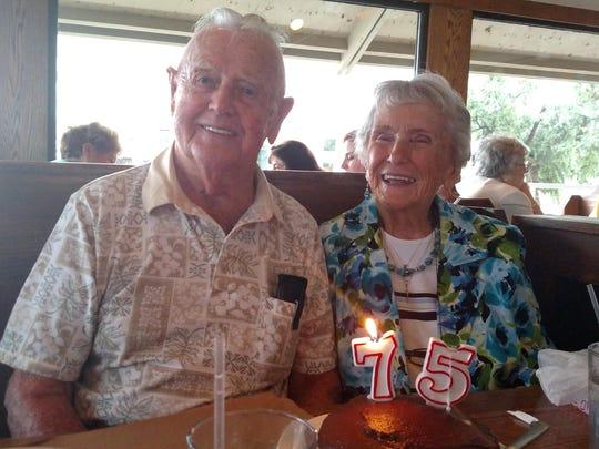 Woodie and Barbara Matthews of Brick celebrate their 75th anniversary.