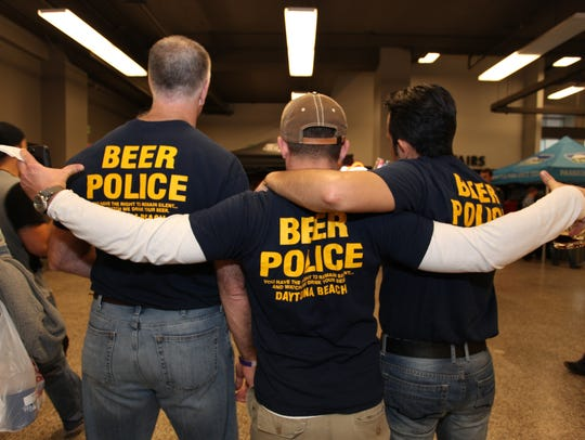 "Three members of the ""Beer Police"" test the quality"
