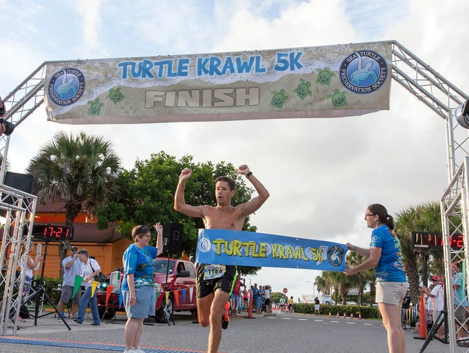 Runners in the Turtle Krawl 5K. The race was held in