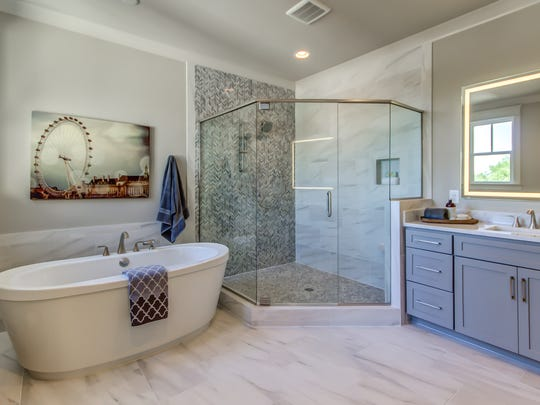 A custom-designed bathroom in a Volunteer Builders-built