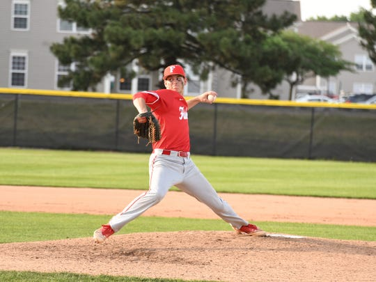Fishers pitcher Grant Richardson struck out 10 batters