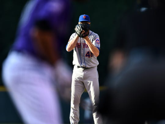 Jun 18, 2018; Denver, CO, USA; New York Mets starting