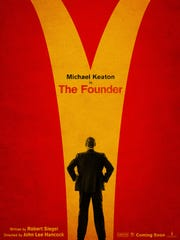 Movie poster for 'The Founder,' starring Michael Keaton.