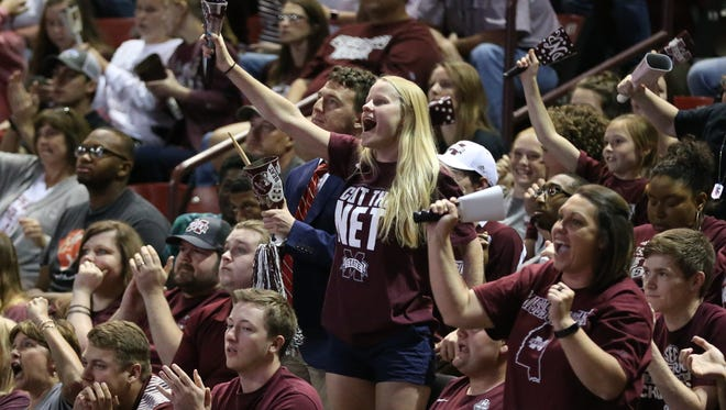 Bulldog fans filled Humphrey Coliseum for Mississippi States National Championship watch party.