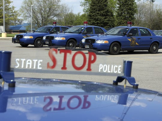 Michigan State Police cars.