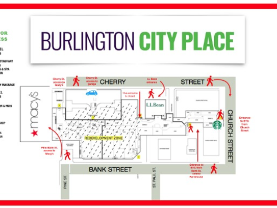 Burlington City Place Map