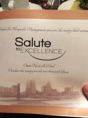 The 23rd Annual Salute to Excellence Award occurred