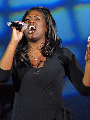 """Amirah Konitzer sings """"Reflection"""" during the 2006 Lakeshore's Rising Stars! finale at the Capitol Civic Centre."""