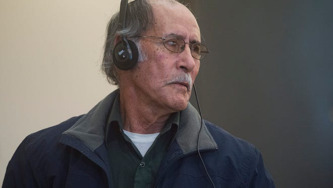 Jose Pinon prepares to give a statement during his sentencing for a criminally negligent homicide that caused the death of cyclist Steve Studt December 16, 2016. Pinon was sentenced to 90 days in jail, 600 hours of community service and 4 years probation for driving the dump truck that killed Studt in June 2015.