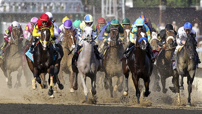 The start of The Kentucky Derby.May 5, 2012
