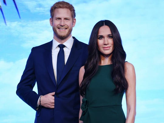 Meghan Markle's waxwork photographed next to Prince