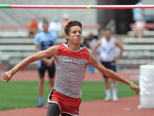 Piketon's Timothy Trawick competes in the high jump