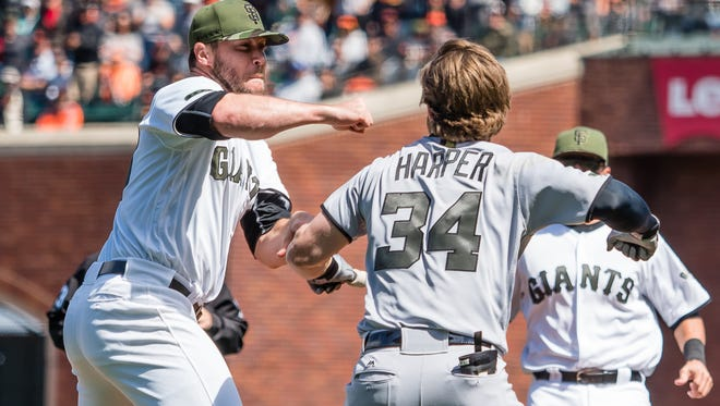 Hunter Strickland got his vengeance on Bryce Harper, but left his Giants teammates vulnerable.